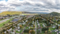 The Crystal City - Aerial photo of Corning NY - Pop