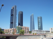The Cuatro Torres of Madrid Spain