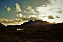 The Cuillin mountains Isle of Skye Scotland
