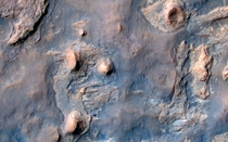 The Curiosity rover as seen by NASAs Mars Reconnaissance Orbiter on April  Exaggerated color image