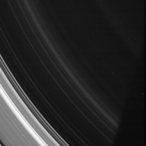The D ring of Saturn photo was taken in visible light with the Cassini spacecraft narrow-angle camera on July