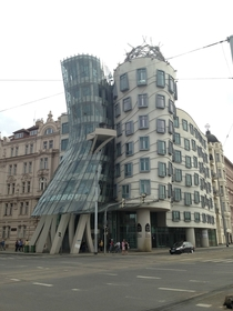 The Dancing House aka Fred and Ginger Prague Czech Republic by Frank Gehry