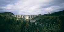The Daniel-Johnson Dam in Qubec