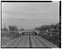 The Davison Freeway named after an English immigrant who owned land near Detroit is the first depressed freeway in the United States At the time it was the only east-west way through Highland Park to Detroit This picture was taken before it was rebuilt to