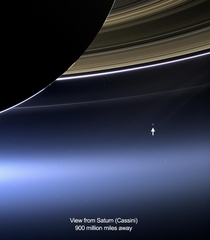 The Day the Earth Smiled The wide-angle camera on NASAs Cassini spacecraft has captured Saturns rings and our planet Earth and its moon in the same frame July   Credit NASAJPL-CaltechSpace Science Institute