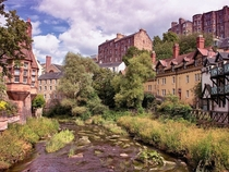 The Dean Village a former village that now finds itself in central Edinburgh