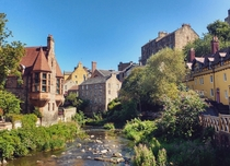 The Dean Village on the Water of Leith Edinburgh
