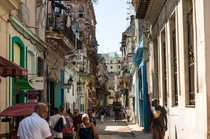 The decaying city of Havana Cuba