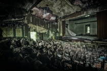 The decaying Manicomio Vendetta theater  by Stefan Baumann