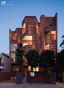 The Defence Colony residence derives its material and tectonic vocabulary from tombs and palaces - fragments of th century Islamic medieval architecture - Designed by Architects Pankaj Vir Gupta and Christine Mueller