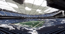 The definition of abandon the Pontiac Silverdome Even though its now gone