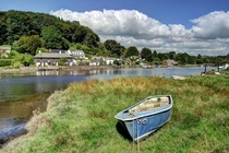 The delightfully pretty village Lerryn England sits astride a creek that feeds into the River