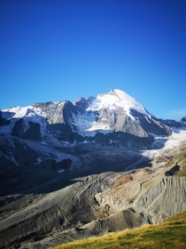 The Dent dHerens m in her morning glory picture taken from Schonbiel Hut Zermatt Switzerland