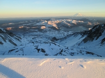The destruction zone of Mt St Helens from the Southern lip of the crater-