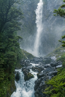 The Devils Punchbowl Arthurs Pass National Park New Zealand