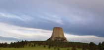 The Devils Tower outside of Hulett Wyoming