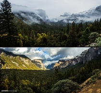 The difference between taking your picture in the morning and the afternoon at Yosemite