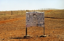 The Dingo Fence a  km long fence completed in  to keep dingoes out of south-east Australia