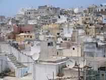 The dishes and antennas of Tangier Morocco