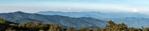 The distant Great Smoky Mountains from Huckleberry Knob North Carolina