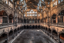 The disused Chambre du Commerce in Antwerp Belgium  Photographed by Slawomir Kmiecik