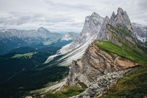 The Dolomites in July Seceda South Tyrol Italy