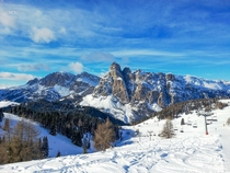 The Dolomites in San Cassiano Italy