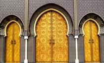 The doors of the royal palace in Fes Morocco