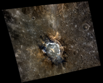 The Dr Seuss crater on Mercury taken by MESSENGER