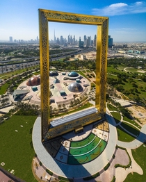 The Dubai Frame  meter tall architectural landmark in Zabeel Park Dubai