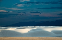 The dunes of White Sands NM looked like giant waves on a white sea