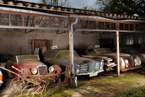 The dusty abandoned cars of the Baillon Collection that would later fetch  million at auction