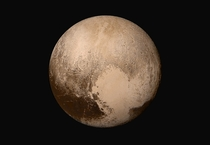 The Dwarf Planet Pluto First Uncompressed True Color Global Mosaic
