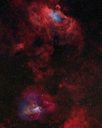 The Eagle Nebula and The Swan Nebula