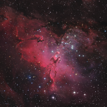 The Eagle Nebula  higher res in comments
