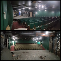 The Eblana Theatre in the basement of Aras Mhic Dhiarmada Dublin Ireland last opened its doors to the public in