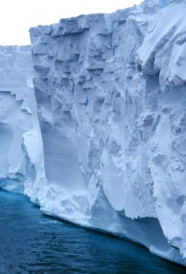 The edge of the Ross Ice Shelf the largest of its kind in Antarctica
