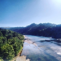 The Eel River in Humboldt County California Photo taken by me from a bridge connecting the towns of Scotia and Rio Dell