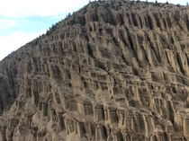 The effects of wind water and time Hoodoos along the Fraser River near Clinton BC Canada