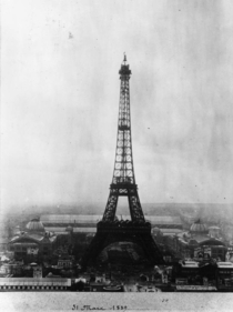 The Eiffel Tower on the day of its inauguration in March