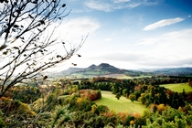 The Eildons From the Three Brethren Autumn  Scottish Borders
