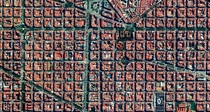 The Eixample District in Barcelona Spain is characterised by its strict grid pattern and apartments with communal courtyards