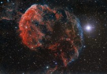 The Elusive Jellyfish Nebula which is part of a bubble-shaped supernova remnant