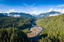 The Elwha River  years after its dam was demolished to allow for habitat restoration Port Angeles Washington