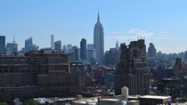 The Empire State Building from Greenwich Village