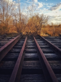 The end of the line Abandoned railroad in southeastern Ontario  OC