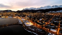 The end of the world Ushuaia Argentina