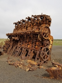The engine of an old ship Iwo Jima Island