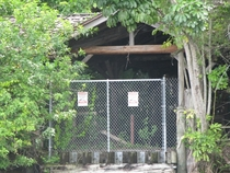 The entrance the the abandoned discovery island  disney world