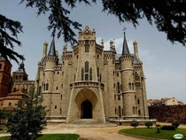 The Episcopal Palace - Astorga Spain - Commissioned by Bishop Juan Bautista Grau y Vallespinos and designed by Spanish Catalan architect Antoni Gaud in - in the Neo-Gothic and Catalan Modernisme style - Currently the Museo de los Caminos displaying religi